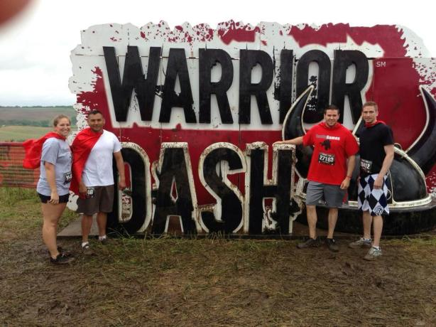 Angie_Matt_Carlos_James Warrior Dash before